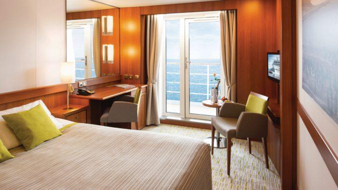 Balkonkabine der MS SEAVENTURE auf Deck 6. Foto: VIVA Cruises