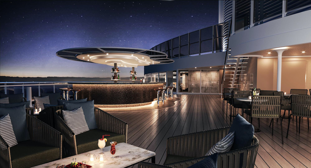 Die Sky Bar der MSC Seashore. Foto: MSC Cruises